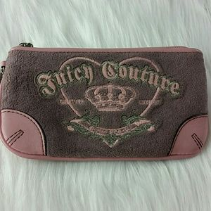 Juicy Couture velour wristlet pink purple